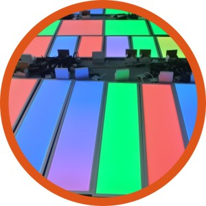 LED panel light (RGB, RGBW, CCT dimmable)